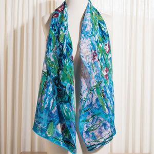 Accessories - Monet Water Lilies Silk Scarf
